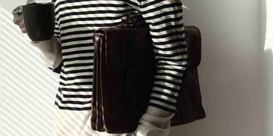 maletines portatiles de cuero para hombre